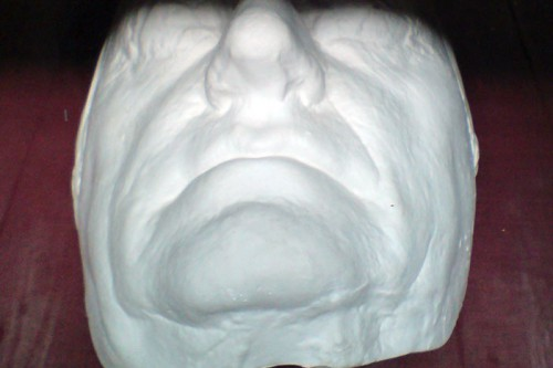 Death Mask Goethe in the collection of Boudewijn Büch. Donated to the Teylers Museum.
